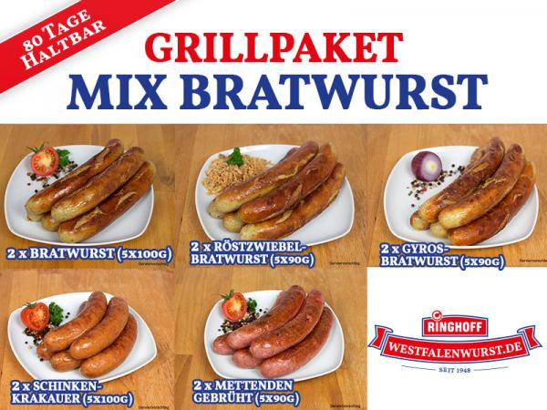 Grillpaket Mix Bratwurst *Angebot*